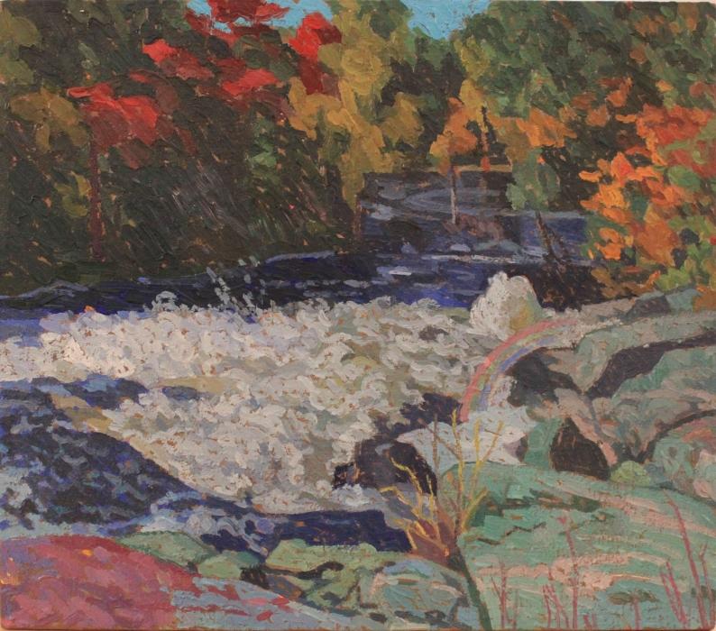 """Rosseau 7, oil on wood, 10"""" x 12"""", $295"""