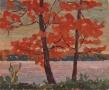 "Orange Trees, Little Lake Park, oil on wood, 8"" x 9.5"", $225 (with floating frame)"