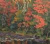 """Autumn Scene, oil on wood, 10"""" x 12"""", $250"""