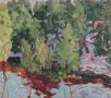 "Notawasaga River, Spring 2, oil on wood, 10"" x 12"", $250"